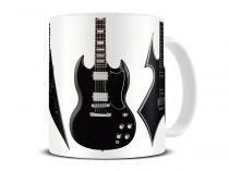 heavy metal guitar mug