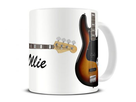 fender jazz bass guitar mug
