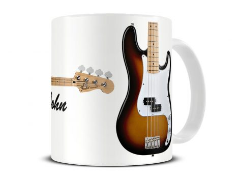 fender precision bass guitar mug