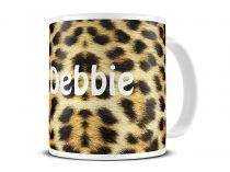leopard skin mug