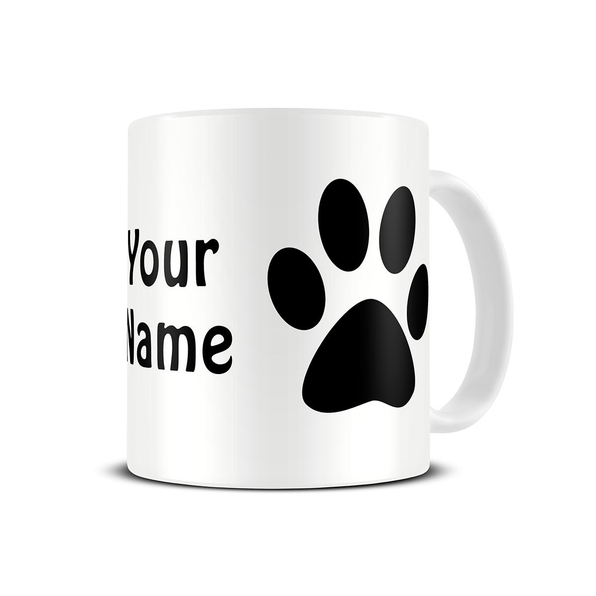 Personalized mugs cheap uk - Cat Paw Mug