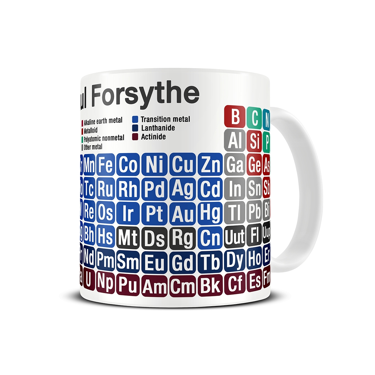 Magoo mugs periodic table gifts personalised mugs gamestrikefo Image collections