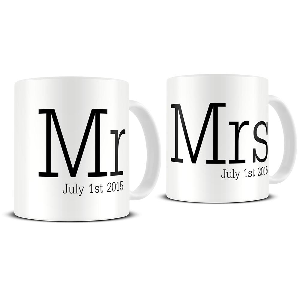 Personalized mugs cheap uk - Personalised Mr And Mrs Mugs