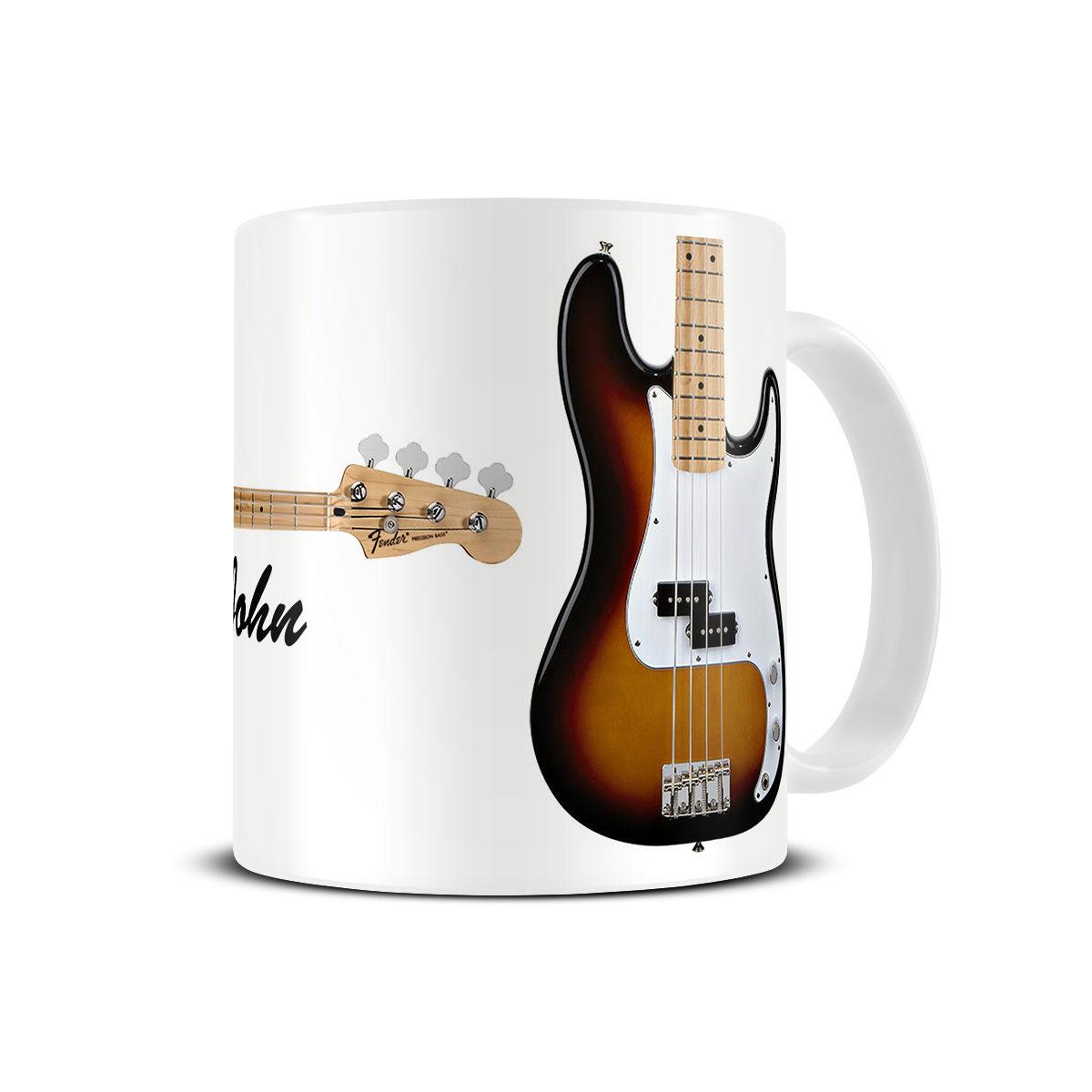 fender precision bass guitar mug