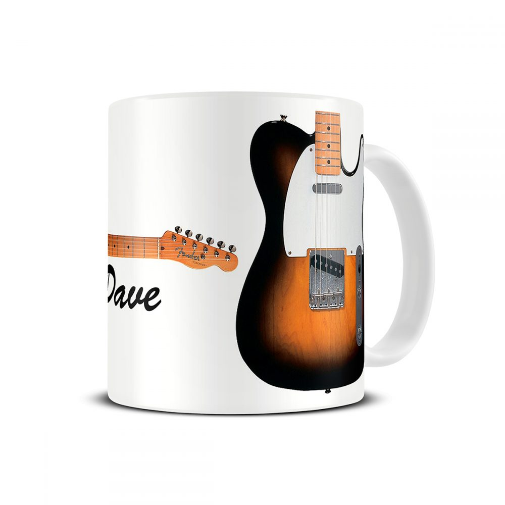 fender telecaster guitar mug