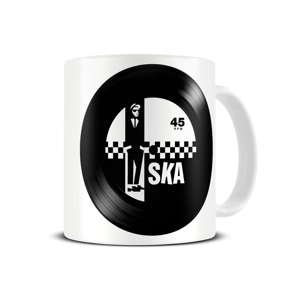 two tone ska mug