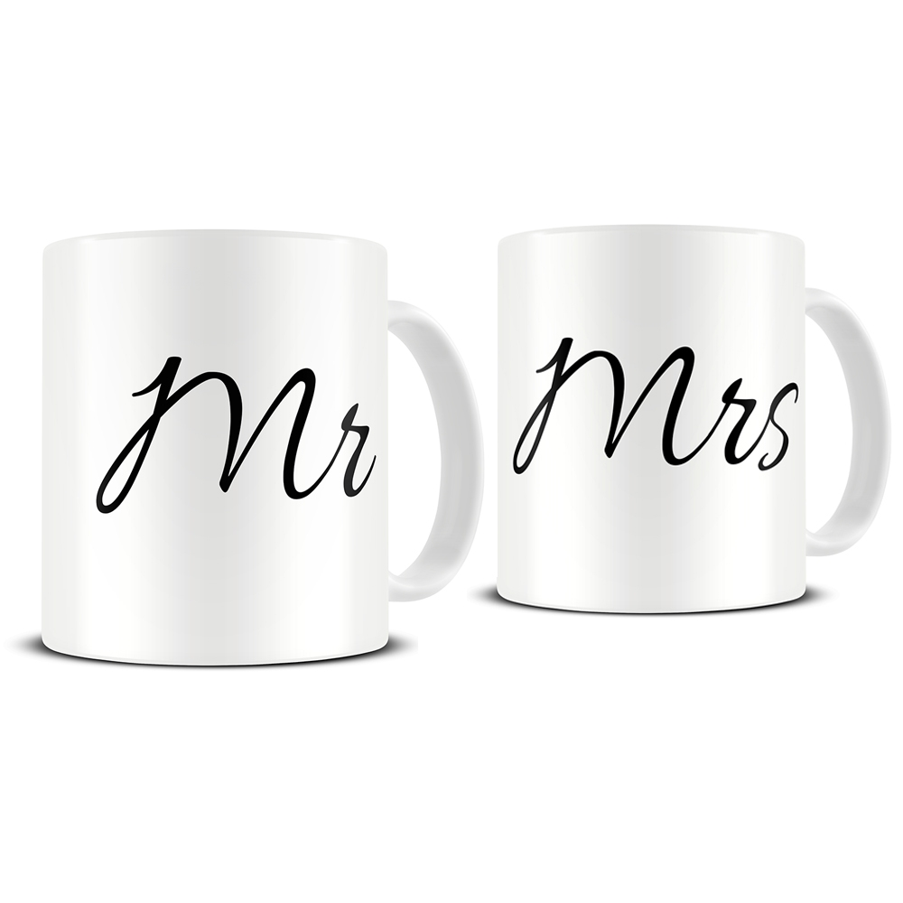 mr and mrs mug set